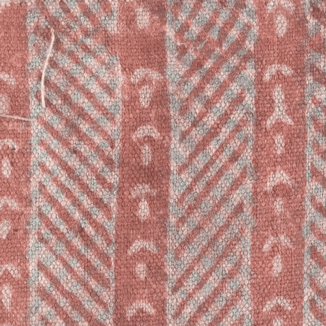 Block-printed fabric sample. Fragment. <br/>17th century