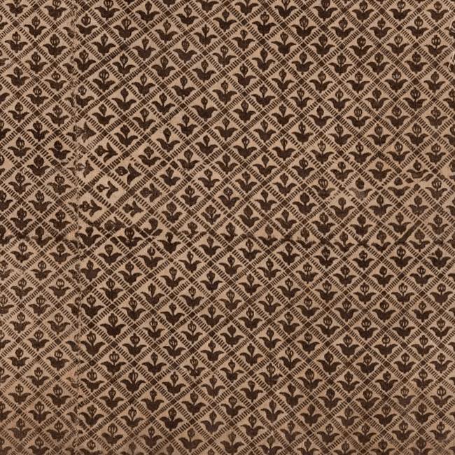Набойка по льняной ткани. Фрагмент. <br/>Конец 17 - начало 18 века