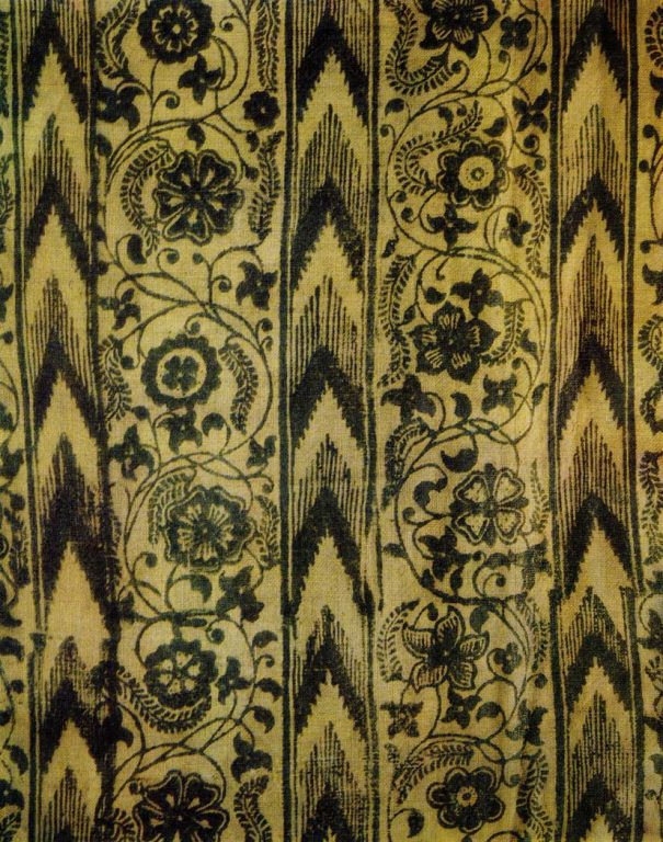 Block printed cloth. Fragment. <br/>Late 17th - first half of the 18th century