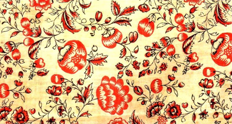 Printed cloth. <br/>18th century