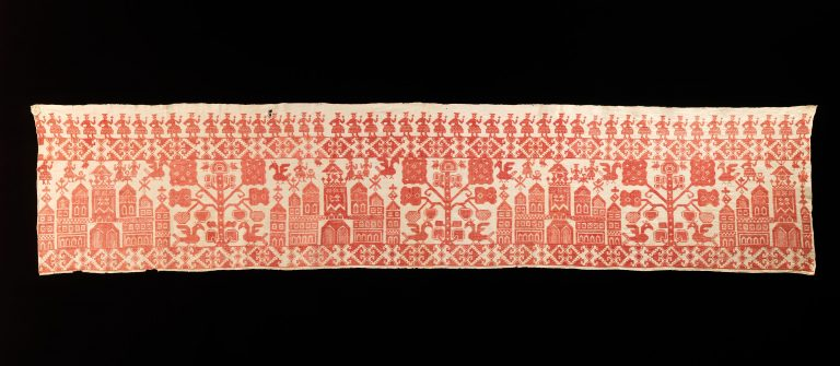 Bed curtain border. <br/>late 18th century