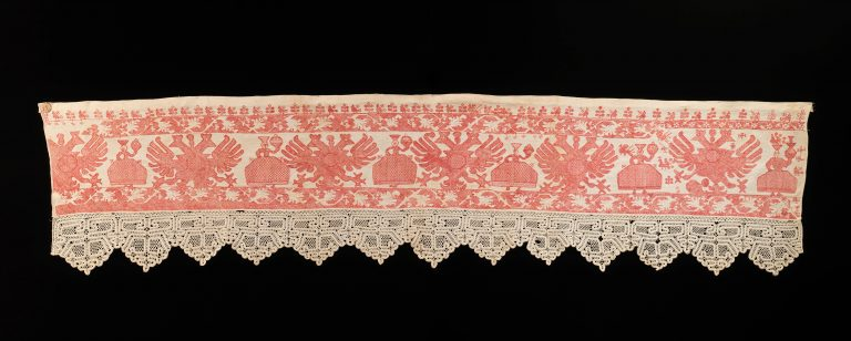 Bed curtian border. <br/>early 19th century