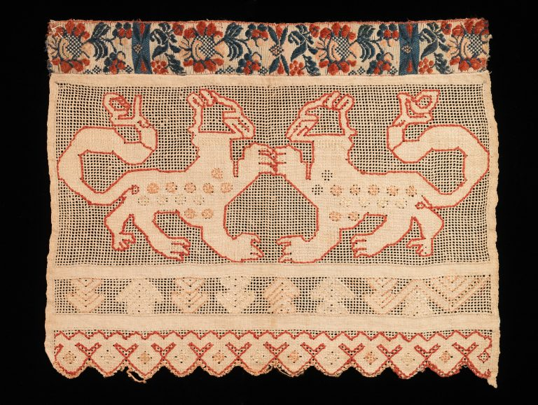 Towel border. <br/>early 19th century