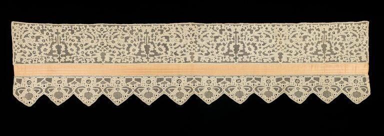 Bed curtain border. <br/>1780-1820