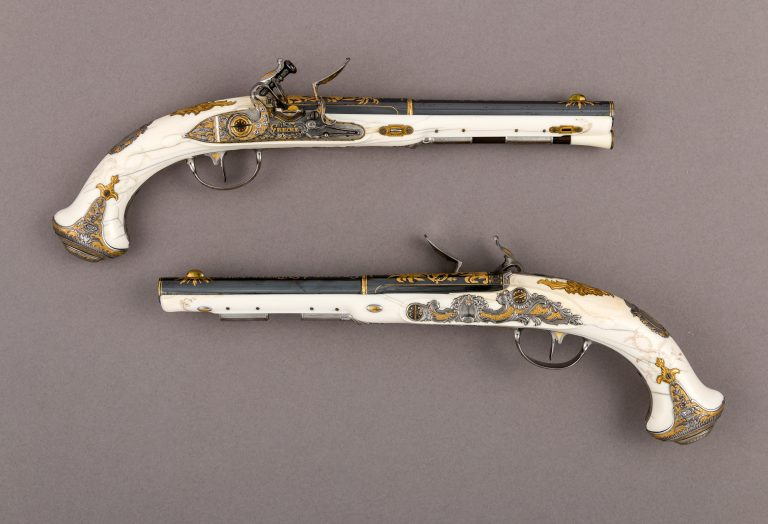 Pair of Flintlock Pistols of Empress Catherine the Great (1729-1796). 1786