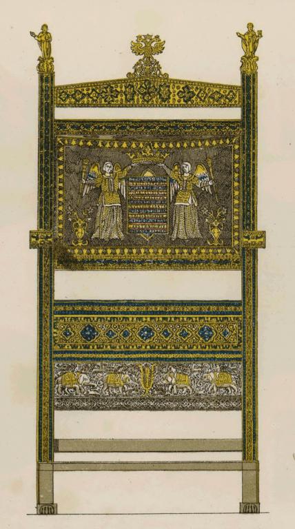 Шитье на царском троне. <br/>17 век