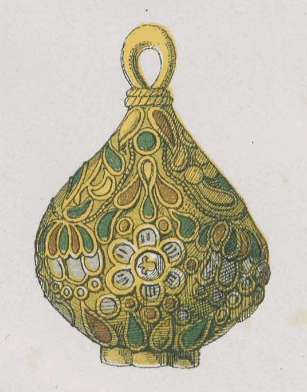 Пуговица царского станового кафтана. <br/>16 - 17 века