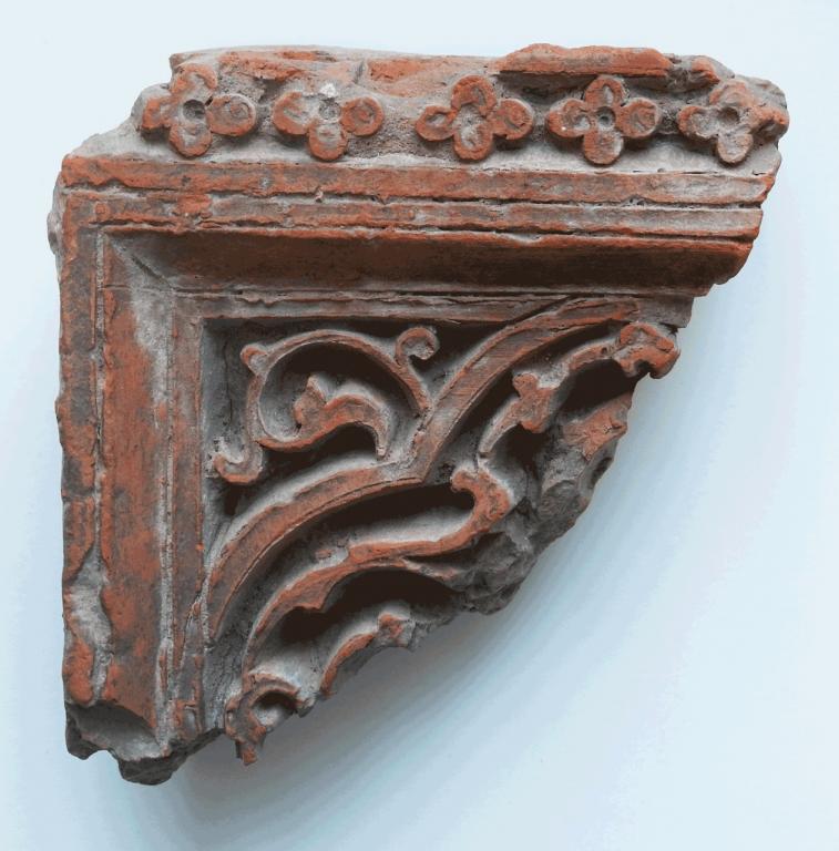 Ганчевый элемент декоративной штукатурки. <br/>14 век