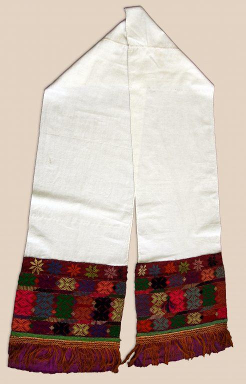 Полотенце головное праздничное (чалма). <br/>Конец 19 века