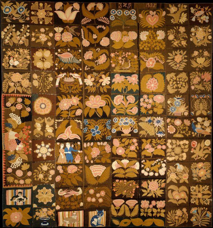 Embroidered Carpet. <br/>1832-35