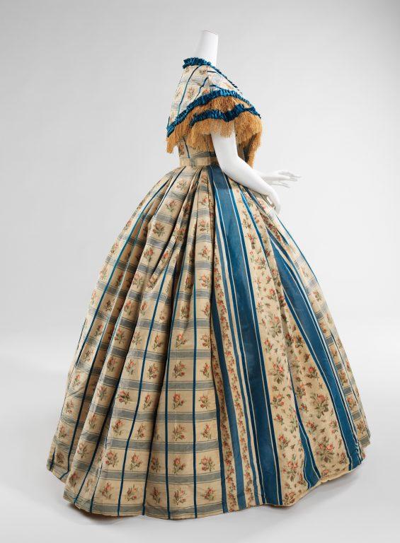 Evening dress. 1857-60