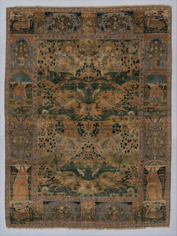 Pictorial Carpet. <br/>17th century