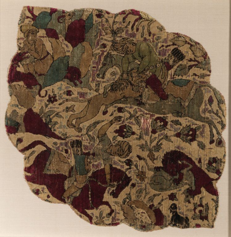 Velvet Panel with Hunting Scene. <br/>ca. 1540