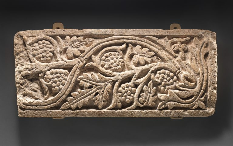 Panel with a Vine Scroll with Grapes. 6th-7th century