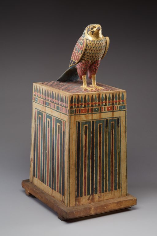 Falcon Box with Wrapped Contents. <br/>332-30 B.C.