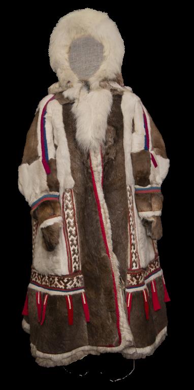 Женская меховая праздничная одежда «не паны» (русское название на западе – «паница», за Уралом – «ягушка»). <br/>1985 год