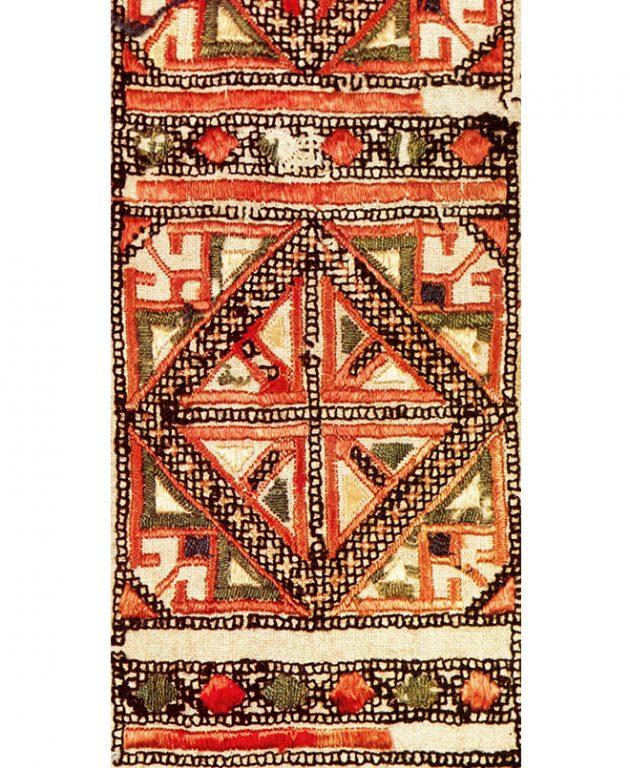 Набедренное украшение яркӑч низовых чувашей. Фрагмент. Начало 19 века