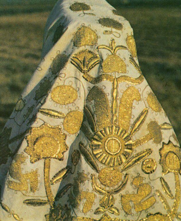 Олонецкий женский головной платок. Первая половина 19 века